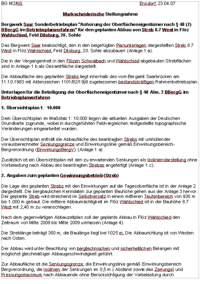Sonderbetriebsplan 8.7 West / Flöz Wahlschied
